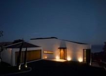 Beautiful, modern French villa with lovely lighting that takes over after sunset