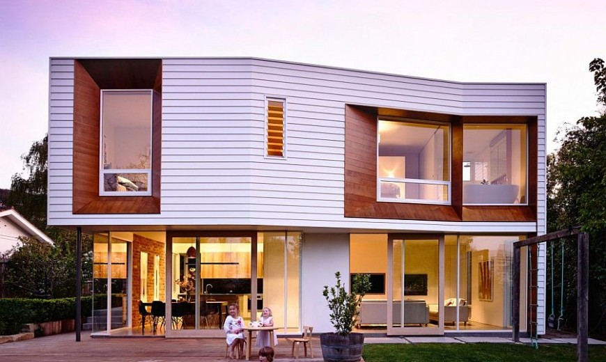 Wavy Modern Extension Enlivens 1920s Californian Bungalow in Hobart
