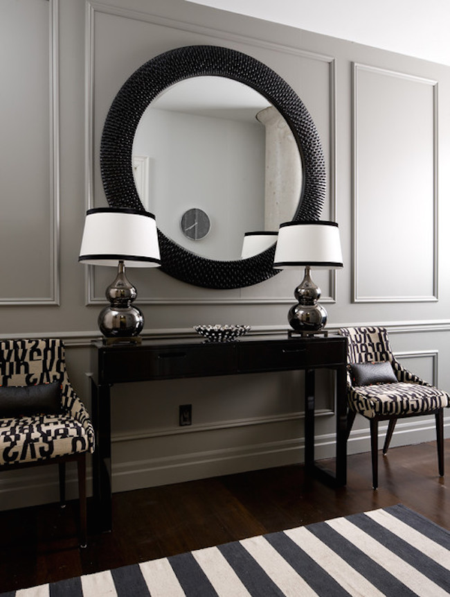 Silver Foyer Mirror : Entryways with captivating mirrors