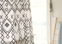 Black-and-white-geo-shower-curtain-from-Urban-Outfitters-217x155
