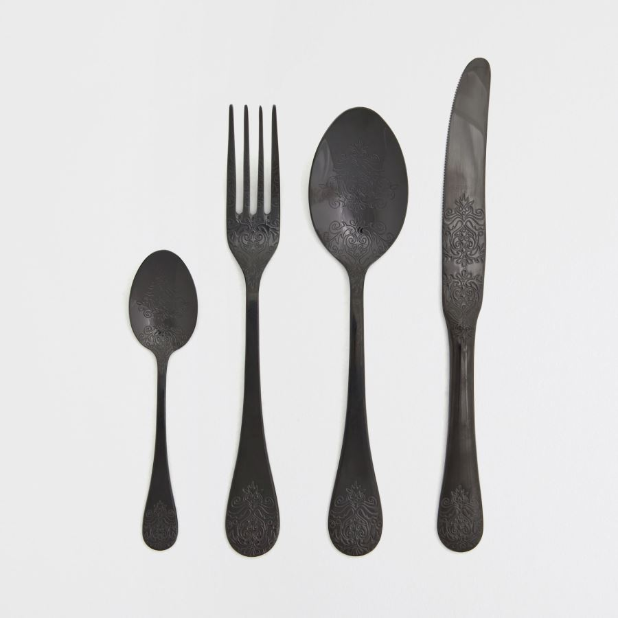 Black flatware from Zara Home