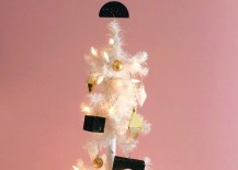 Black white and gold holiday tree from Happy Mundane 217x155 Unique Christmas Ideas That Celebrate Modern Design