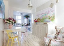 Blend in Scandinavian simplicity with shabby chic allure