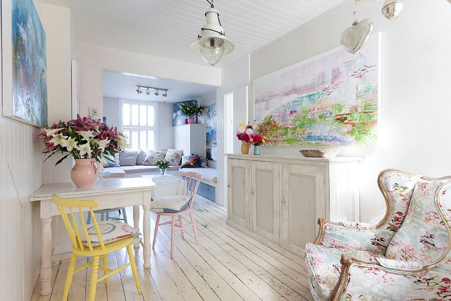... Gallery Blend In Scandinavian Simplicity With Shabby Chic Allure  [Photography: Chris Snook]