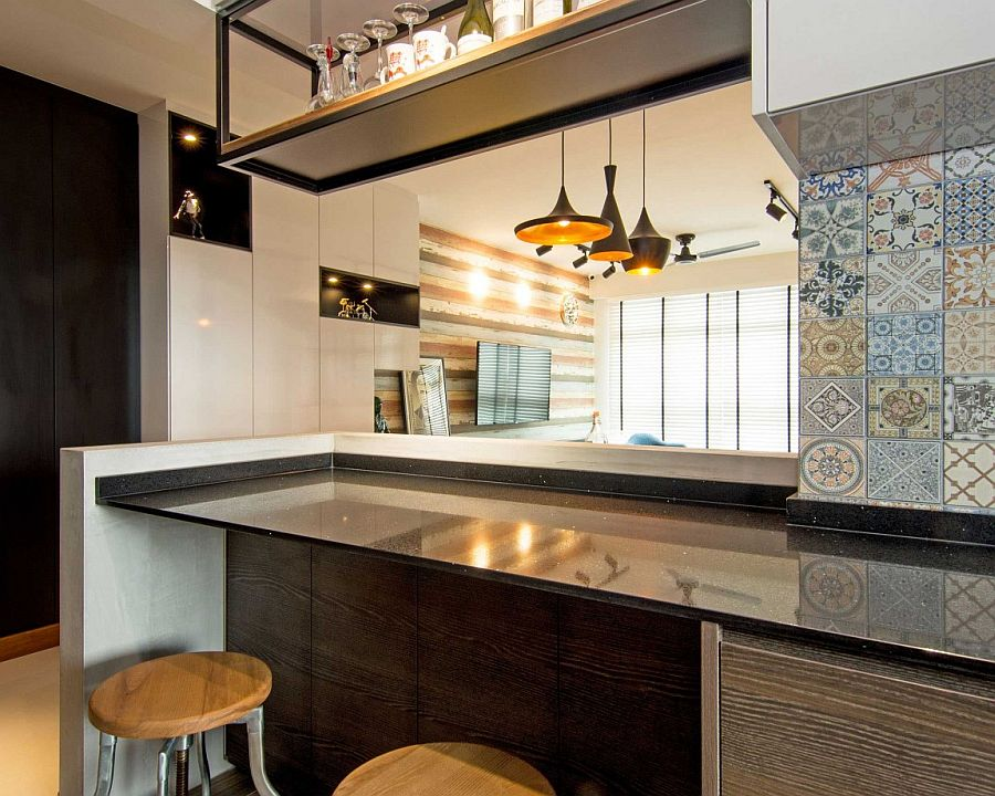 Kitchen Tiles Singapore home in singapore: space-savvy interior laced with industrial elements