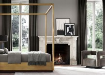 Brass bed from RH Modern