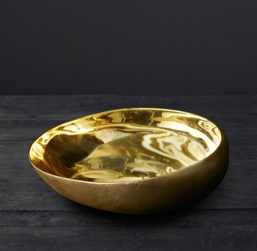 Brass offering bowl from RH Modern