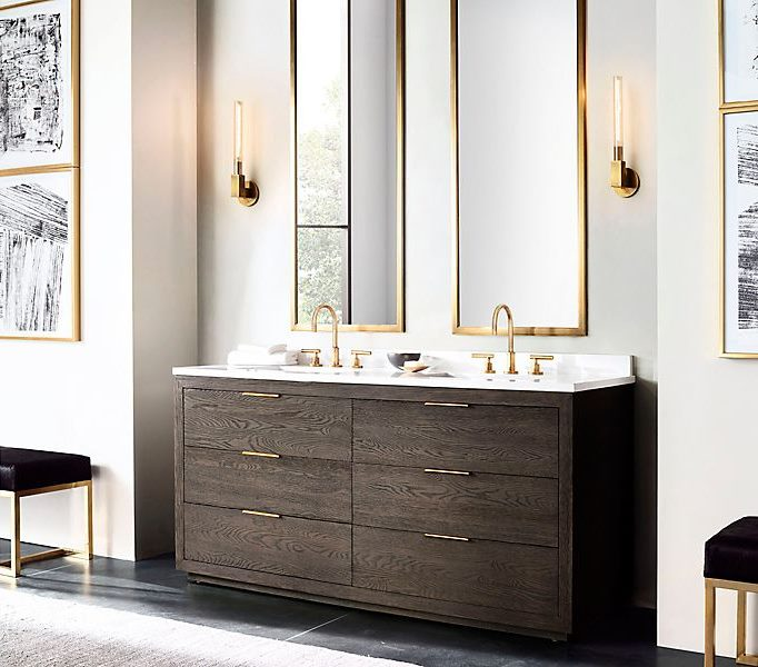 Brass sink hardware from RH Modern