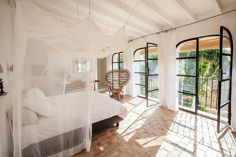 Breezy bedroom captures the relaxing vibe of Ibiza perfectly!