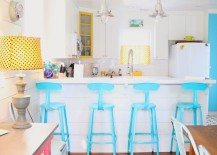 Astounding 18 Brilliant Kitchen Bar Stools That Add A Serious Pop Of Color Caraccident5 Cool Chair Designs And Ideas Caraccident5Info