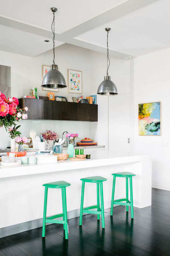 18 brilliant kitchen bar stools that add a serious pop of Bright kitchen