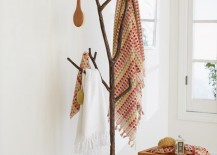 Bronze Branch Coat Tree with bathroom accessories from VivaTerra