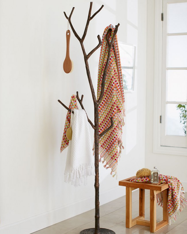 15 cool coat racks that really branch out for Porte manteau branche