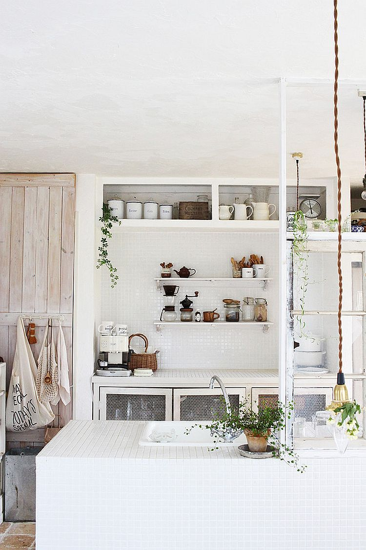 Casual vibe of the shabby chic kitchen makes it a delight in small homes [From: French & Natural Styling - powder]