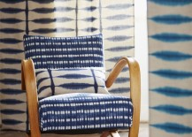 Chair with shibori cushioning