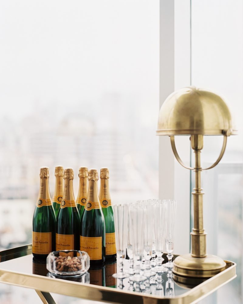 Champagne is a holiday bar cart must