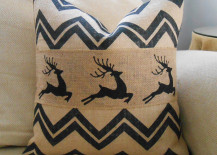 Chevron reindeer burlap pillow 217x155 8 Rustic Accent Pillow Ideas to Add Some Coziness This Winter