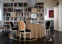 Classic and contemporary touches come together inside fabulous dining and reading room