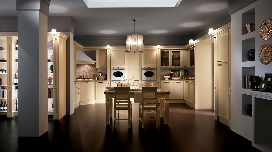 Classical elegance and contemporary ergonomics brought together by Grand Relais kitchen