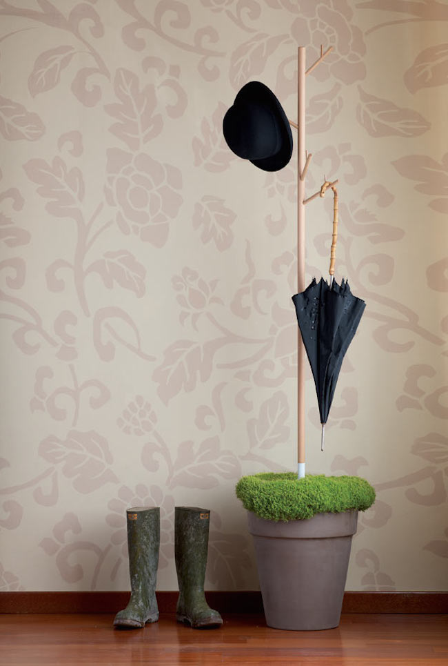 Coat racks from Teracrea can be placed in any planter