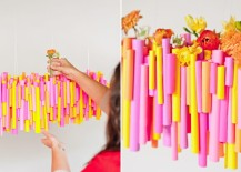 Colorful chandelier from Paper & Stitch