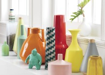 Colorful grouping of vases from CB2