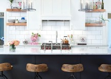 Combine your love for shabby chic and contemporary styles effortlessly in the kitchen [From: Smithouse / Mitch Allen Photography]
