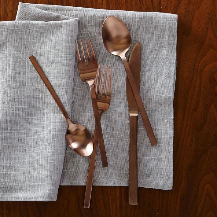 Copper flatware from West Elm