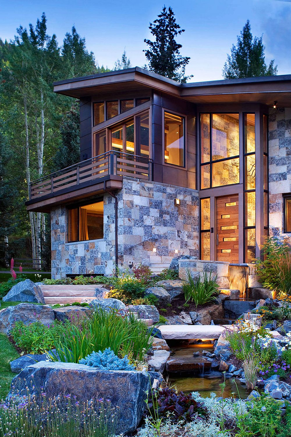 Colorado mountain home by suman architects leaves your for Modern rustic home plans