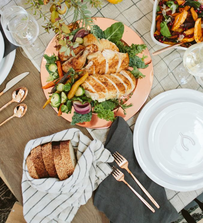 Copper tones as shown through a range of Crate & Barrel dinnerware items
