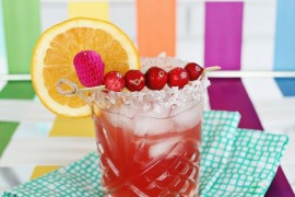 Cranberry orange margarita from A Beautiful Mess Stocking Your Holiday Bar Cart Stocking Your Holiday Bar Cart Cranberry orange margarita from A Beautiful Mess 270x180