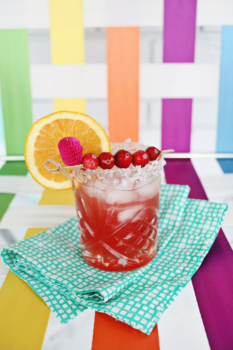 Cranberry orange margarita from A Beautiful Mess