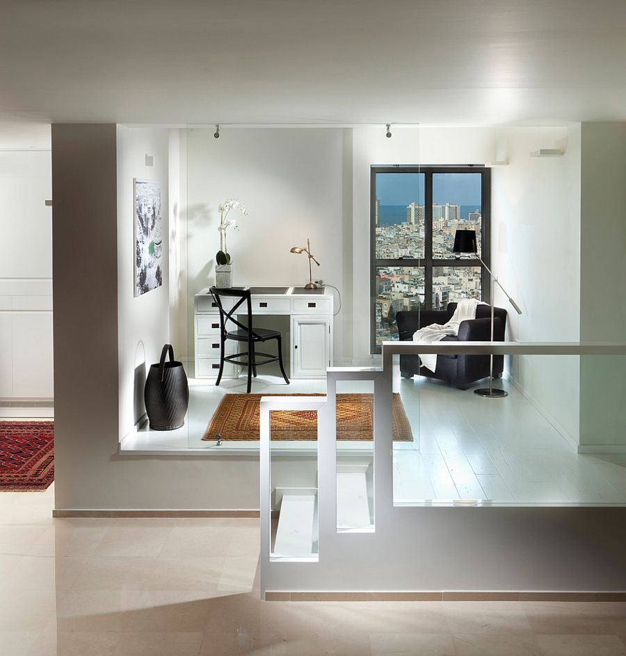 Create a room within a room using raised floor [Photography: Elad Gonen]