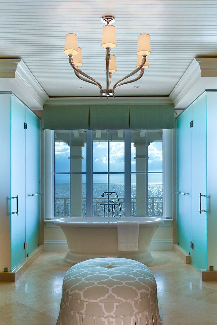 Creative design of contemporary bathroom with tropical flavor [Design: Kurtz Homes Naples]