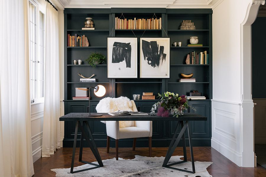 30 black and white home offices that leave you spellbound Creative home office design