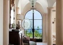 Custom fabricated Limestone columns bring that timeless Mediterranean charm