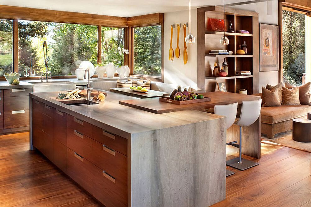 Colorado mountain home by suman architects leaves your - Modern rustic kitchen cabinets ...