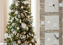 DIY Merry Christmas banner for a Christmas tree 217x155 Holiday Banner Ideas to Showcase Your Cheerful Message