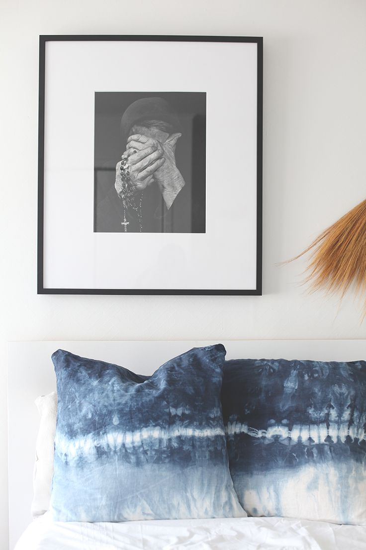 DIY Shibori decorative pillow covers