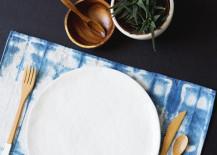 DIY shibori placemats