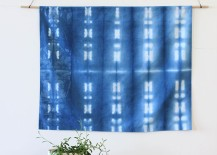 DIY shibori wall hanging