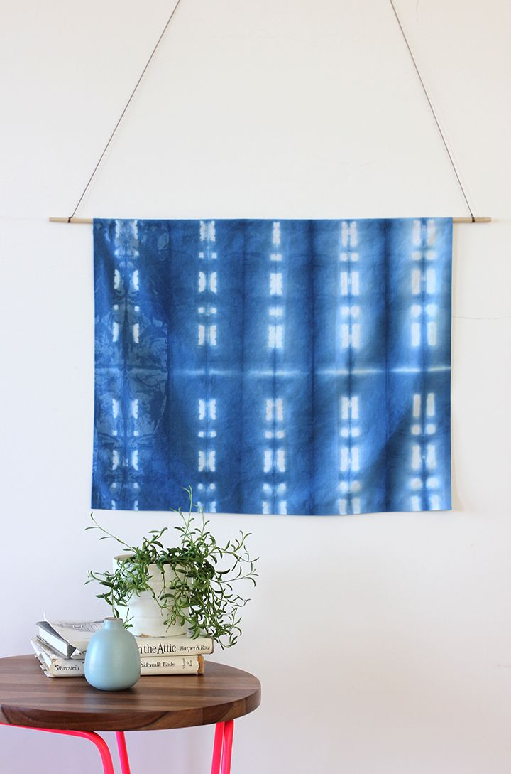 DIY shibori wall hanging