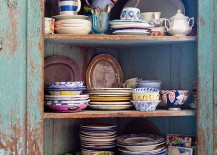 Decorating the shabby chic kitchen with color and creativity! [Photography: Rikki Snyder]
