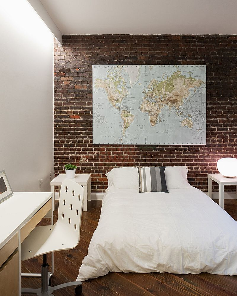 Decorating With A Map Is An Easy Way To Add Color And
