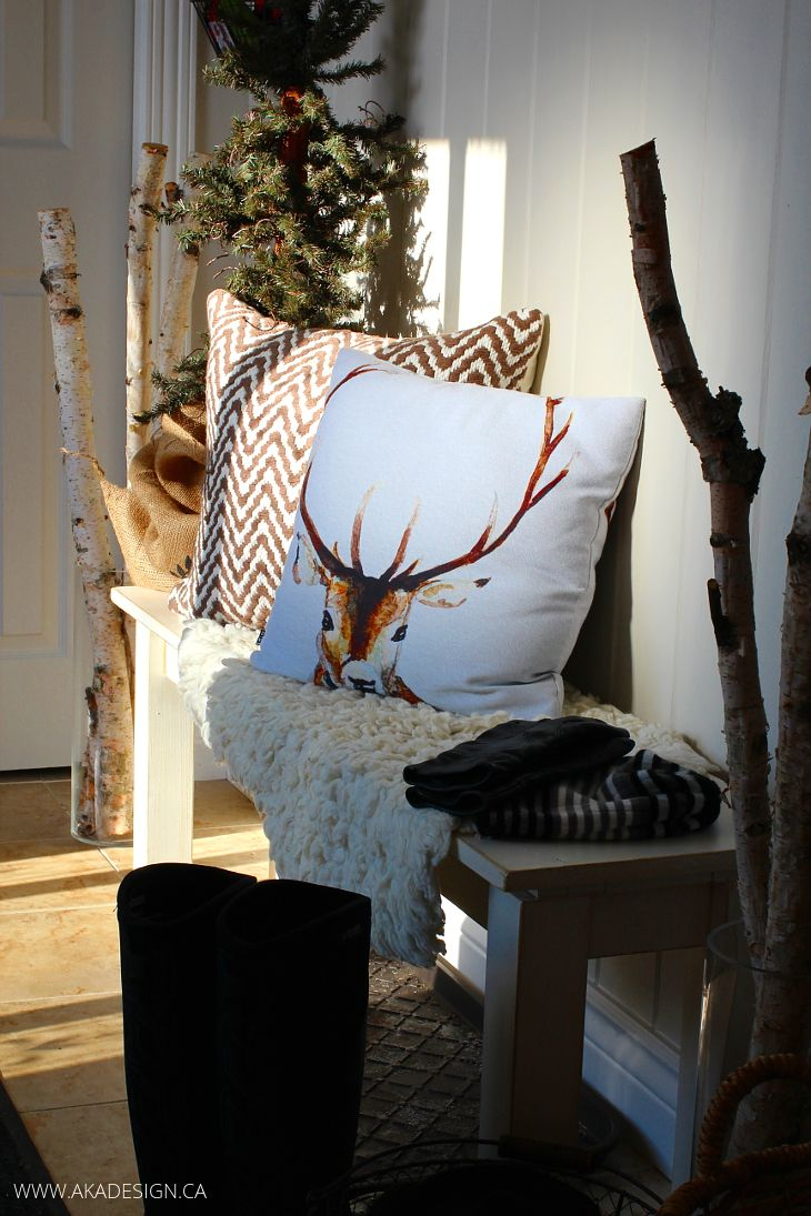 Deer image on decorative pillow