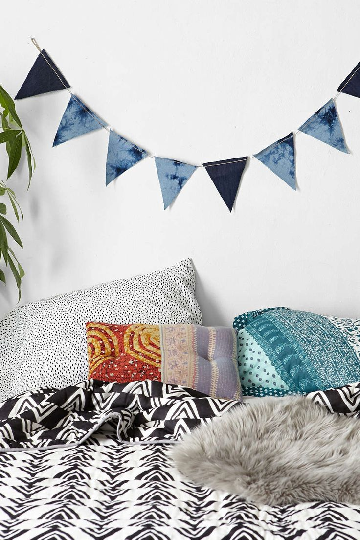 Denim shibori banner from Urban Outfitters
