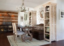Design of the dining table elevates the shabby chic style in the room to a whole new level!
