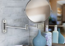 Double-sided chrome bathroom mirror