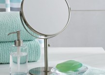 Double-sided vanity mirror from Crate & Barrel