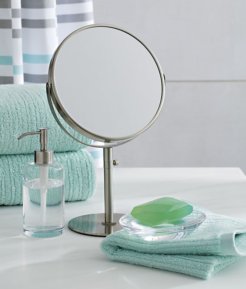 View In Gallery Double Sided Vanity Mirror From Crate Barrel